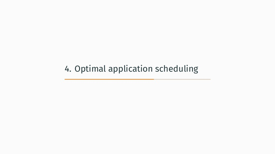 4. Optimal application scheduling