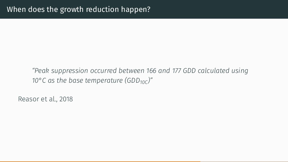 """When does the growth reduction happen? """"Peak su..."""