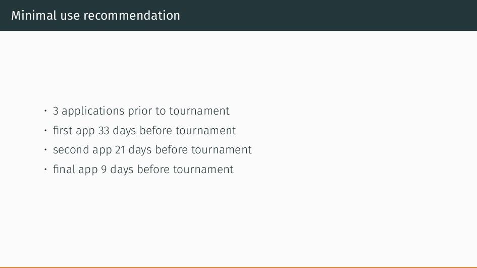 Minimal use recommendation • 3 applications pri...