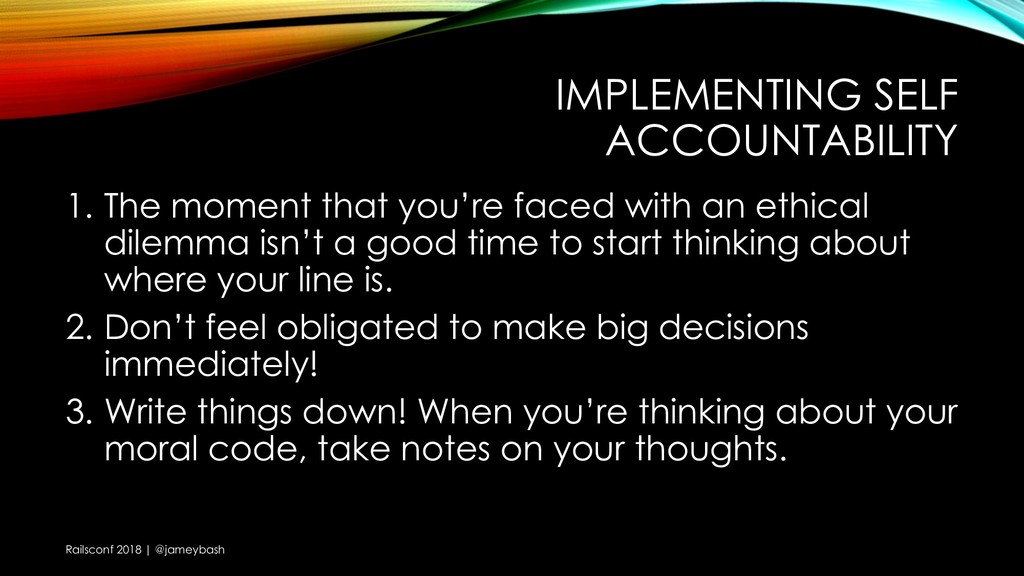 IMPLEMENTING SELF ACCOUNTABILITY 1. The moment ...