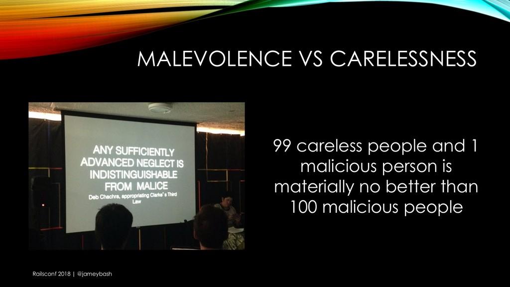 MALEVOLENCE VS CARELESSNESS Railsconf 2018   @j...