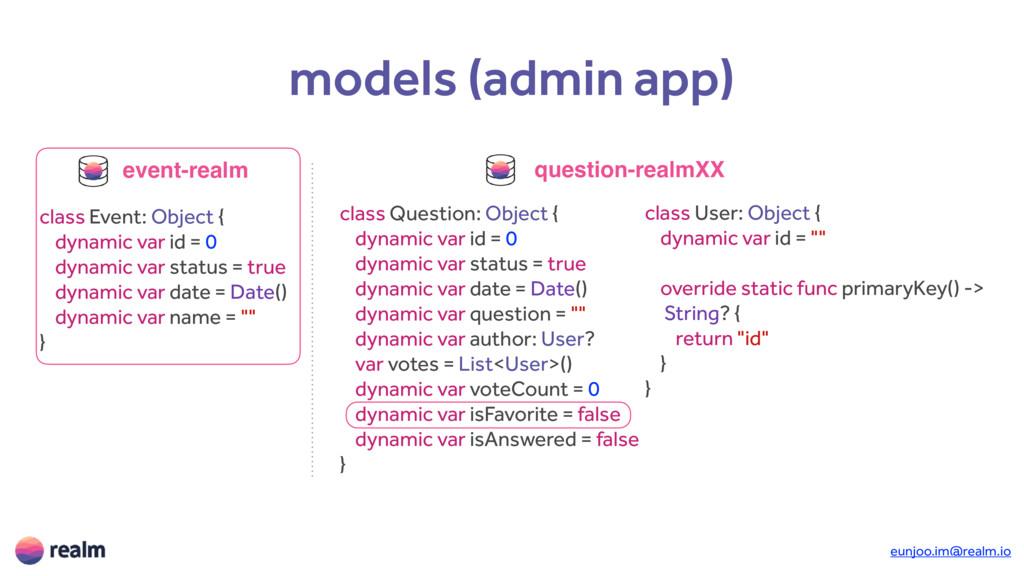 eunjoo.im@realm.io models (admin app) class Eve...