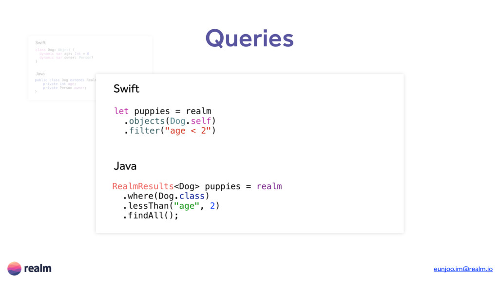 Queries Objects Queries Notifications Transacti...