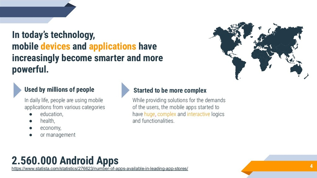 4 In today's technology, mobile devices and app...
