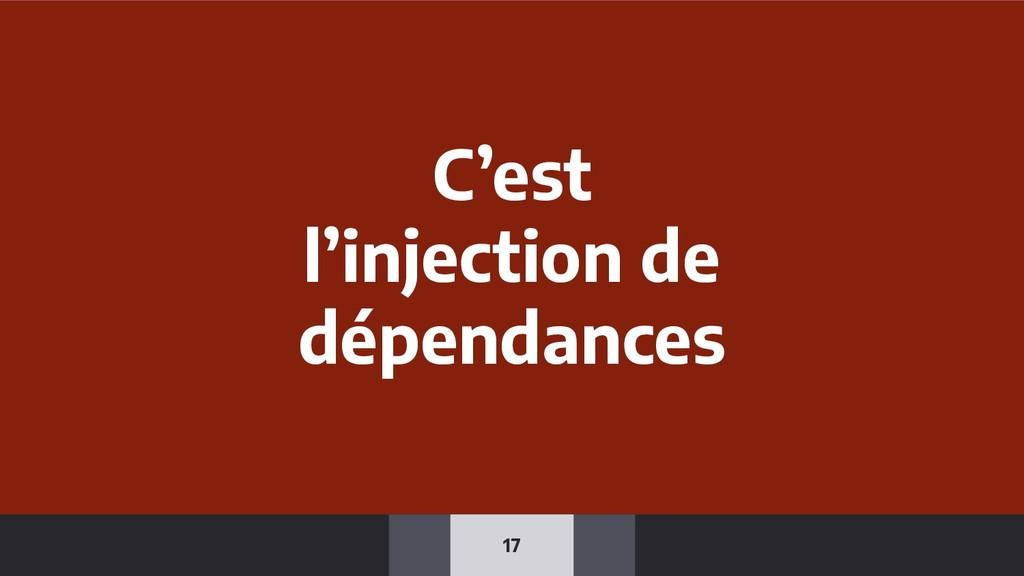 17 C'est l'injection de dépendances