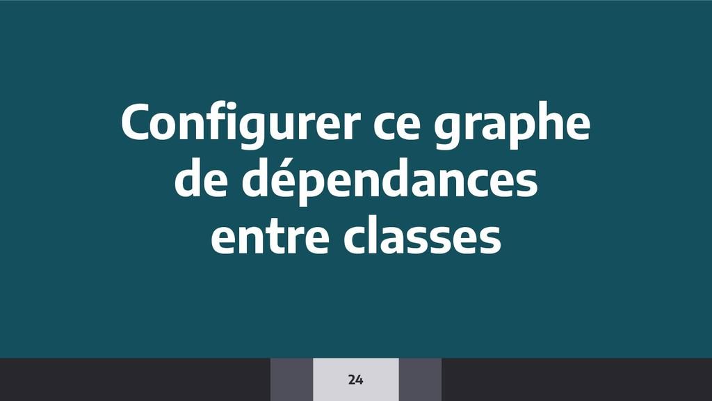 24 Configurer ce graphe de dépendances entre cla...