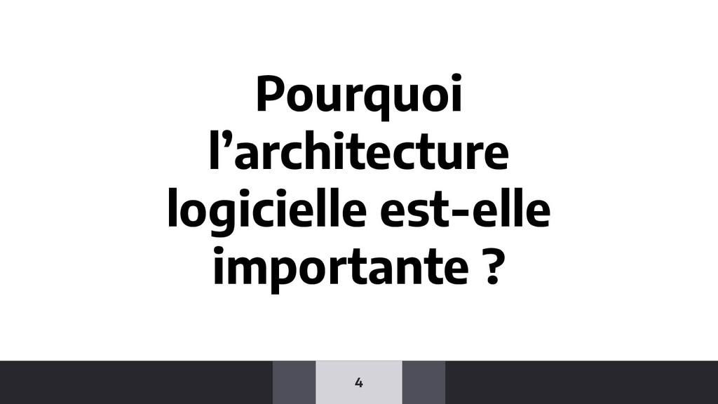 4 Pourquoi l'architecture logicielle est-elle i...