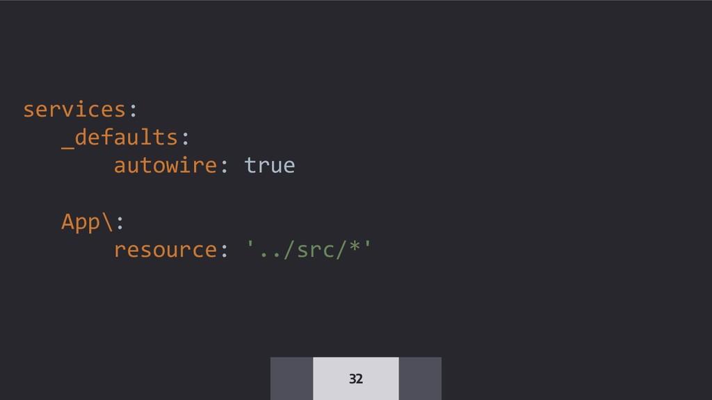 32 services: _defaults: autowire: true App\: re...