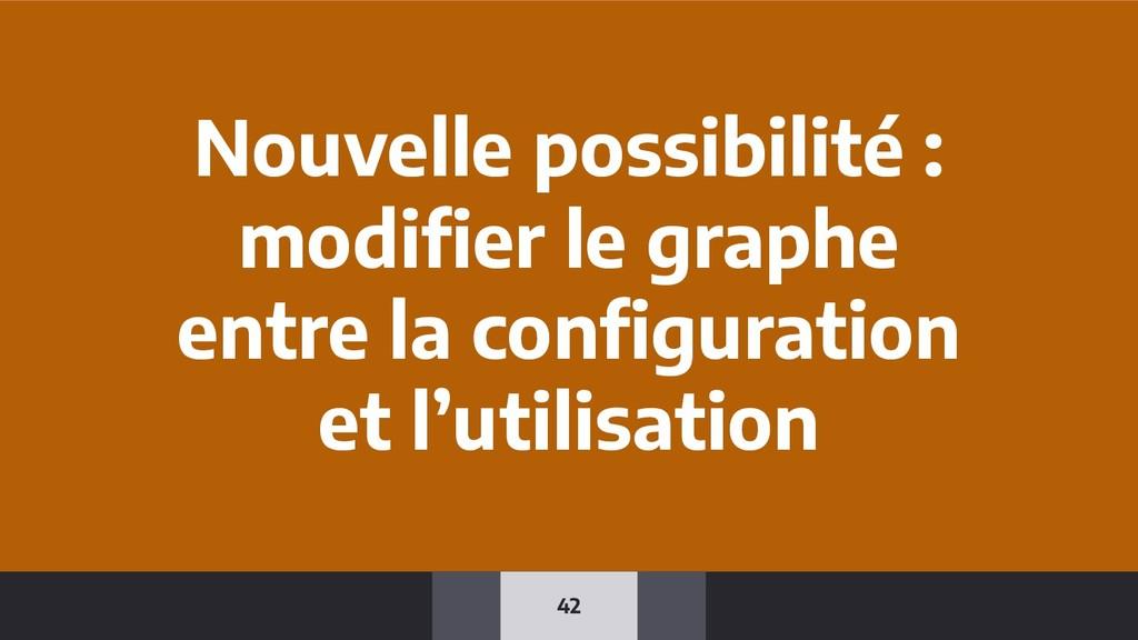 42 Nouvelle possibilité : modifier le graphe ent...
