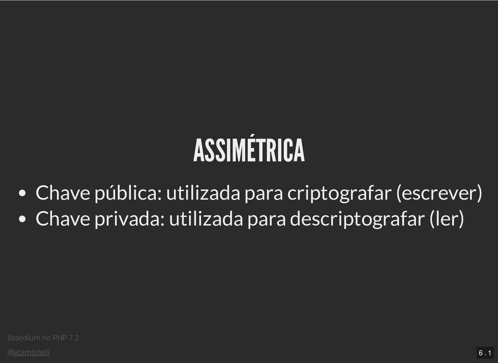 libsodium no PHP 7.2 @vcampitelli ASSIMÉTRICA A...