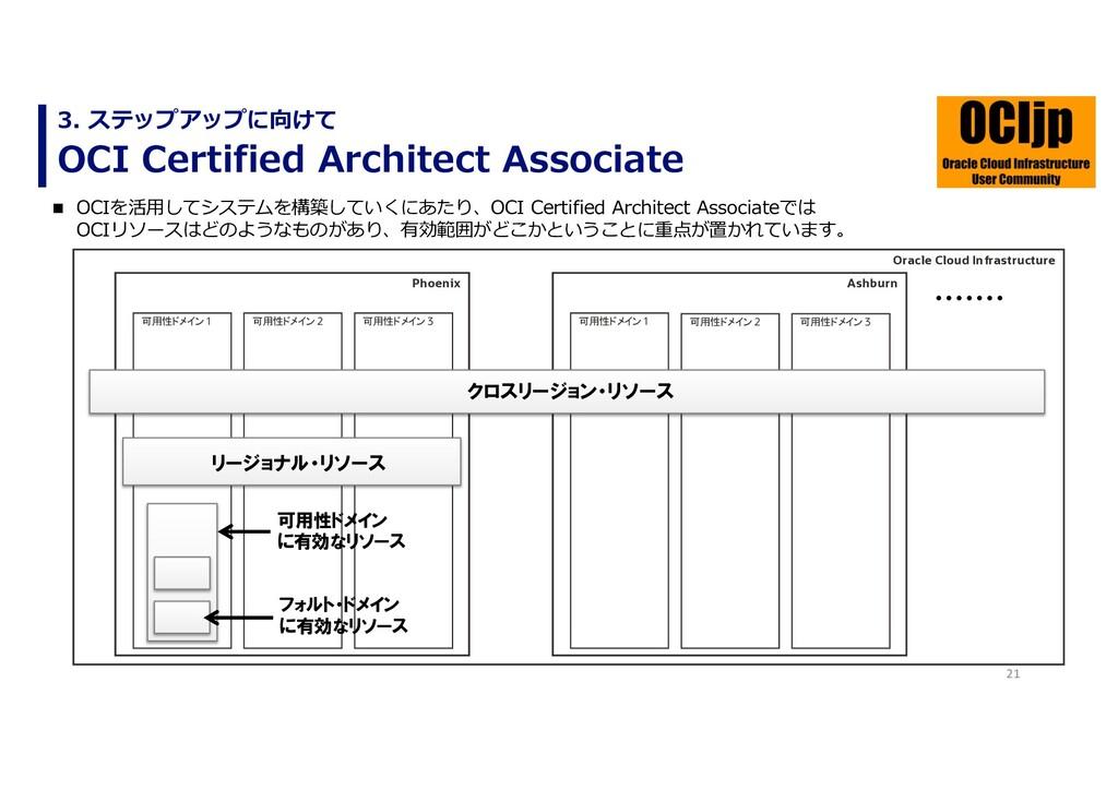 21 OCI Certified Architect Associate 3. ステップアップ...