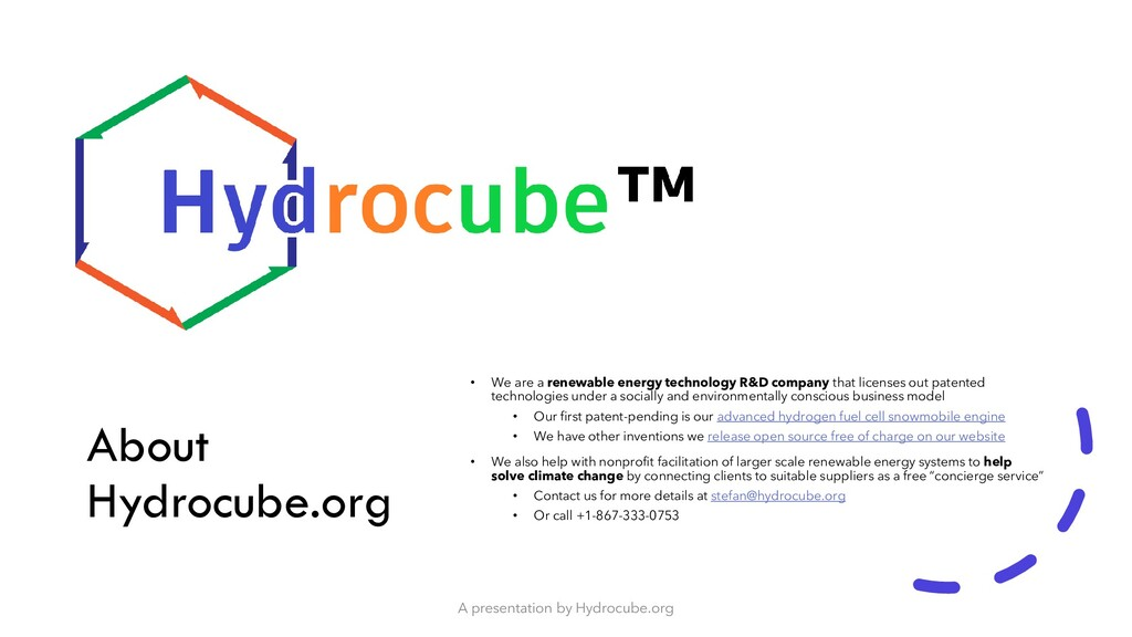 About Hydrocube.org • We are a renewable energy...
