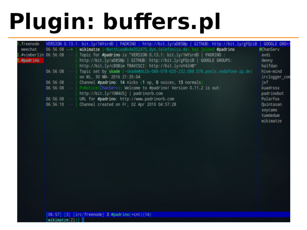 Plugin: buffers.pl