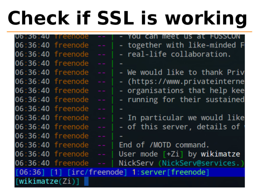 Check if SSL is working