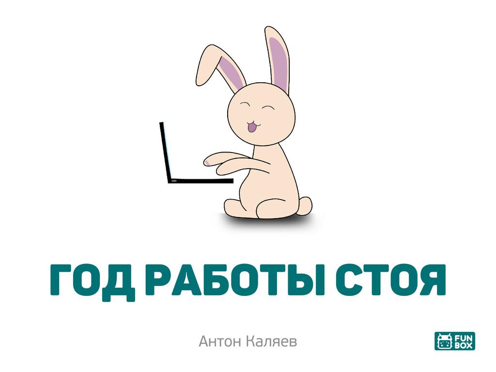 Год работы стоя Антон Каляев
