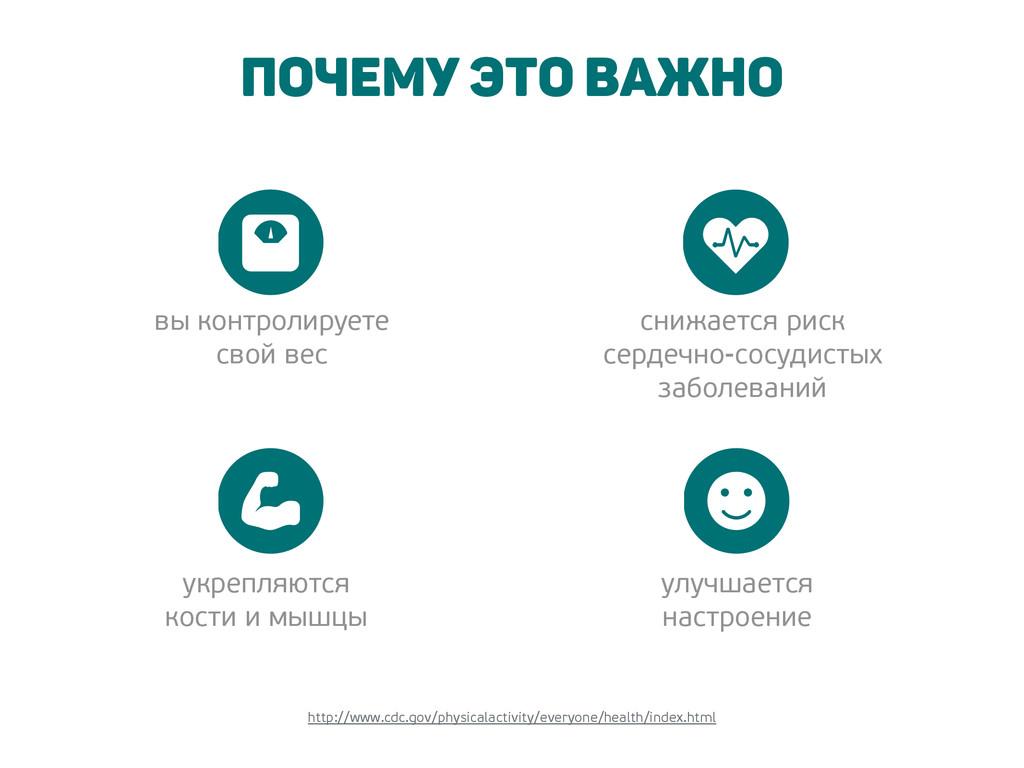Почему это важно http://www.cdc.gov/physicalact...