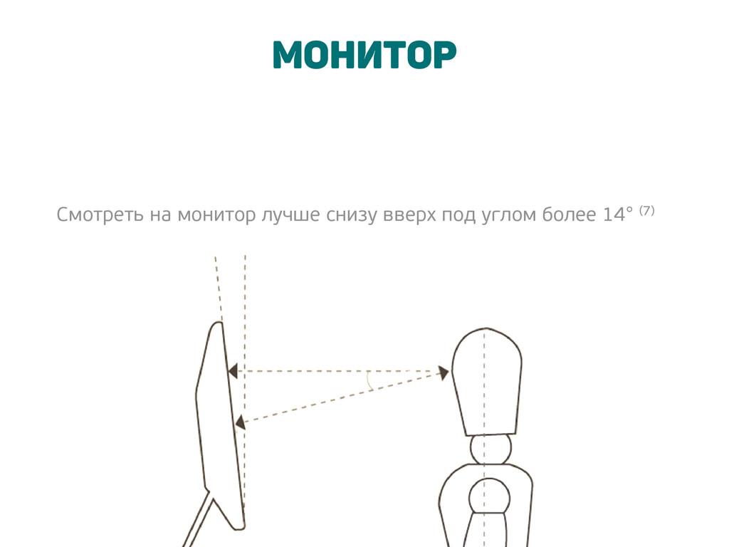 Монитор Смотреть на монитор лучше снизу вверх п...