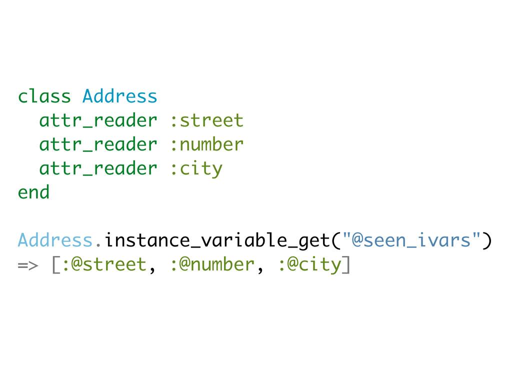 class Address attr_reader :street attr_reader :...