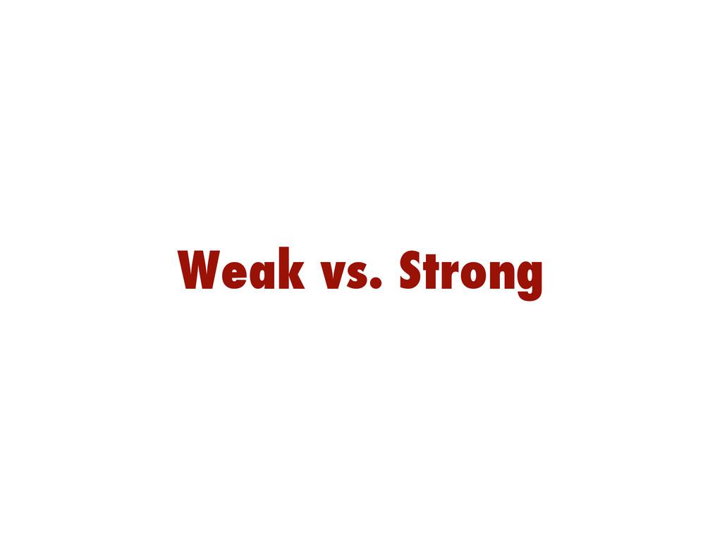 Weak vs. Strong