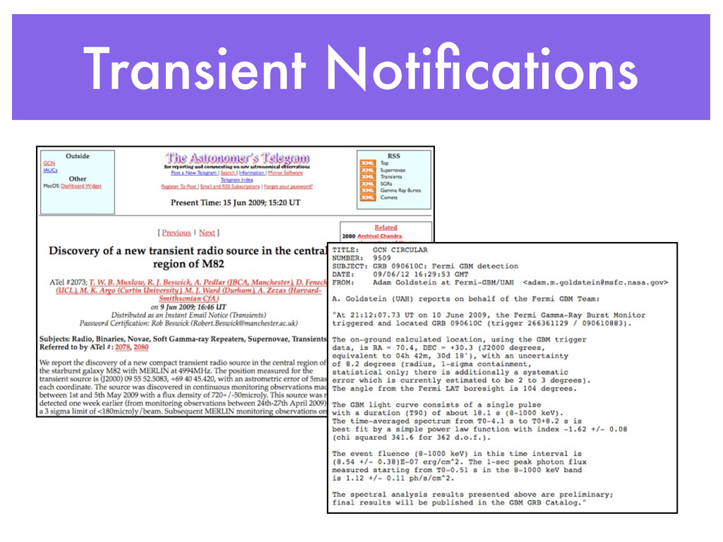 Transient Notifications