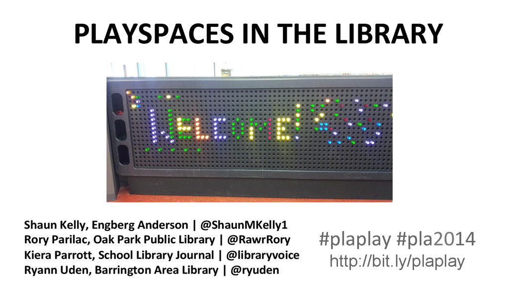 PLAYSPACES IN THE LIBRARY  #plaplay...