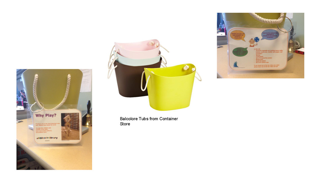 Balcolore Tubs from Container Store
