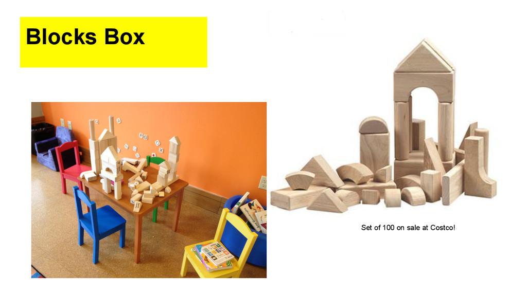Blocks Box Set of 100 on sale at Costco!