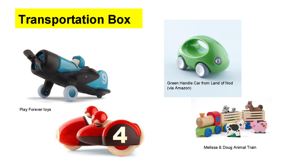Transportation Box Play Forever toys Green Hand...