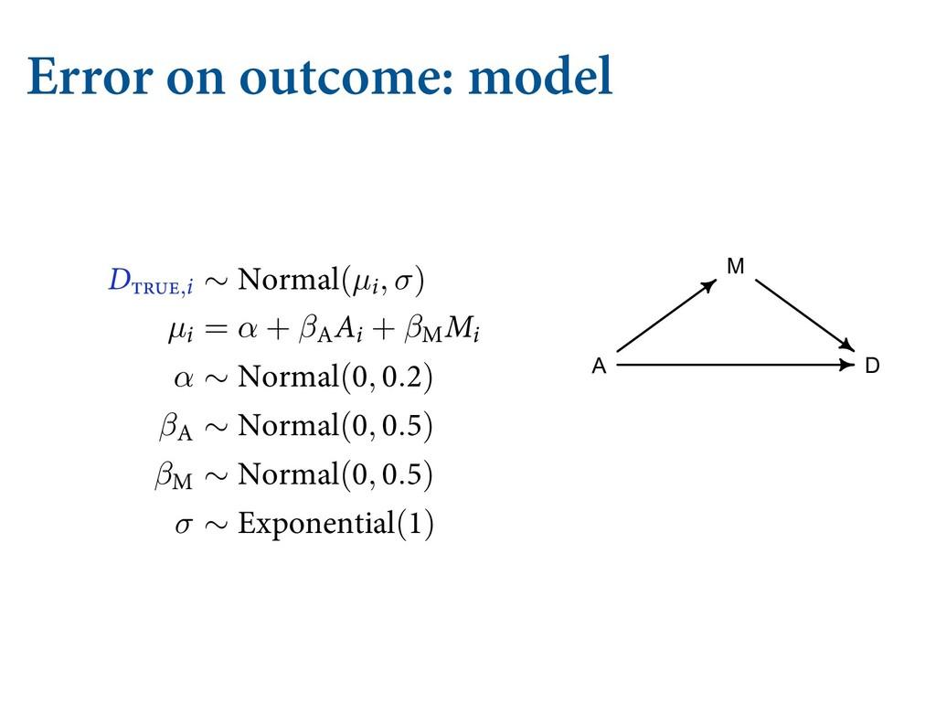 Error on outcome: model 4UBUFT QSPEVDF NPSF VOD...