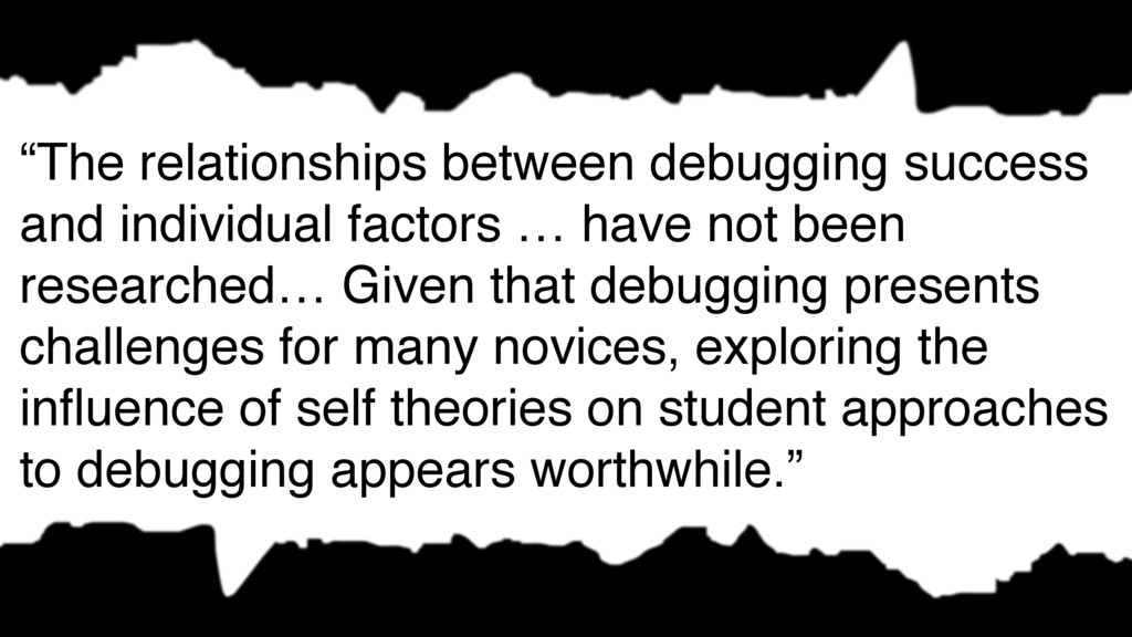 """The relationships between debugging success an..."