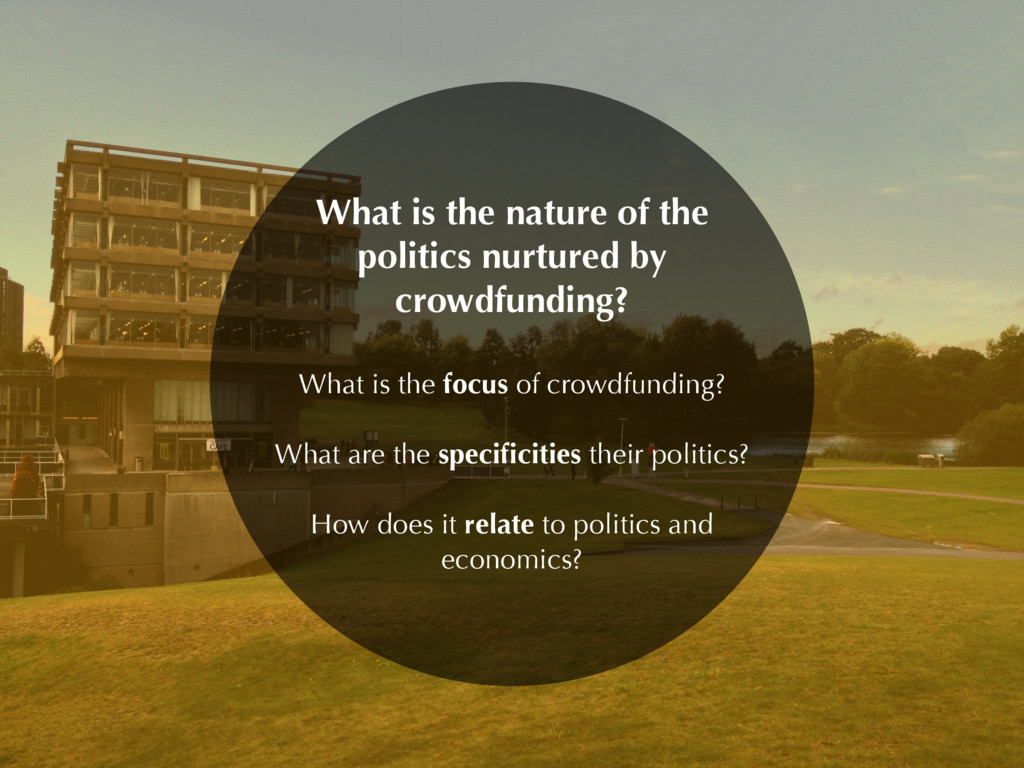 What is the nature of the politics nurtured by ...