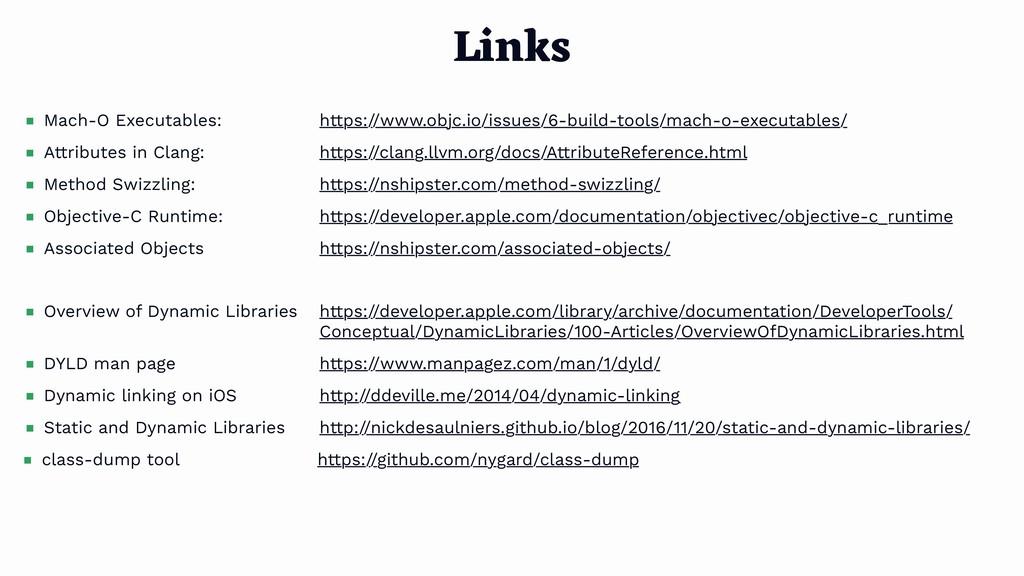 Links Mach-O Executables: https://www.objc.io/i...