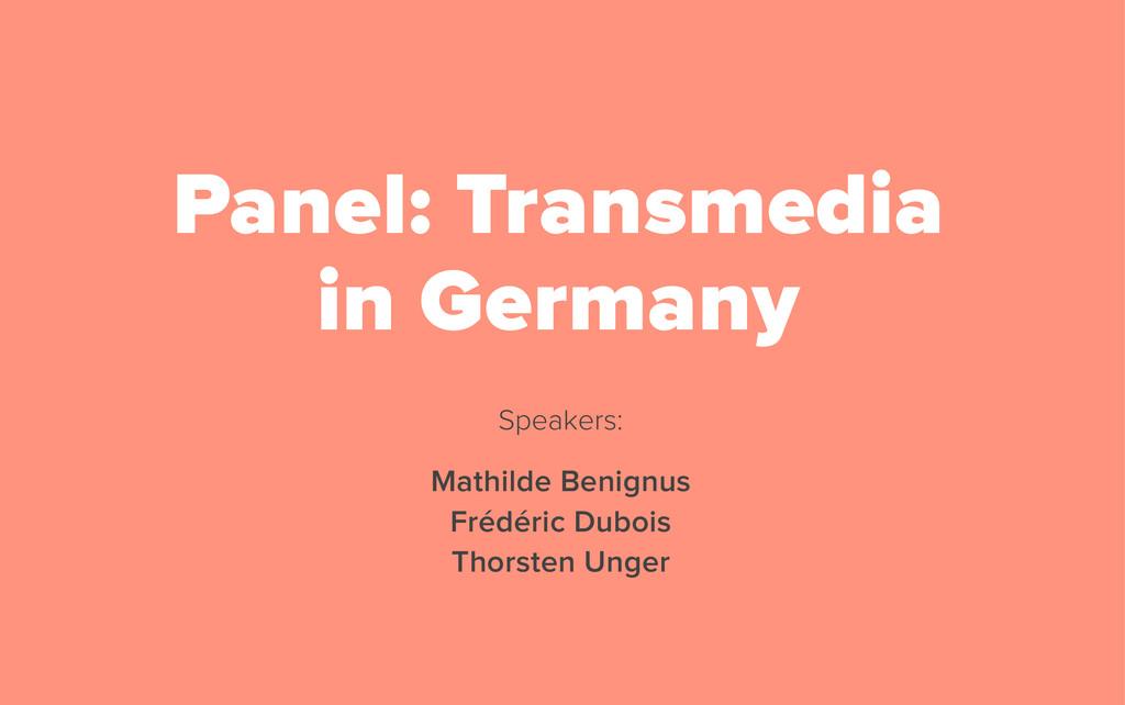 Speakers: Mathilde Benignus Frédéric Dubois Tho...