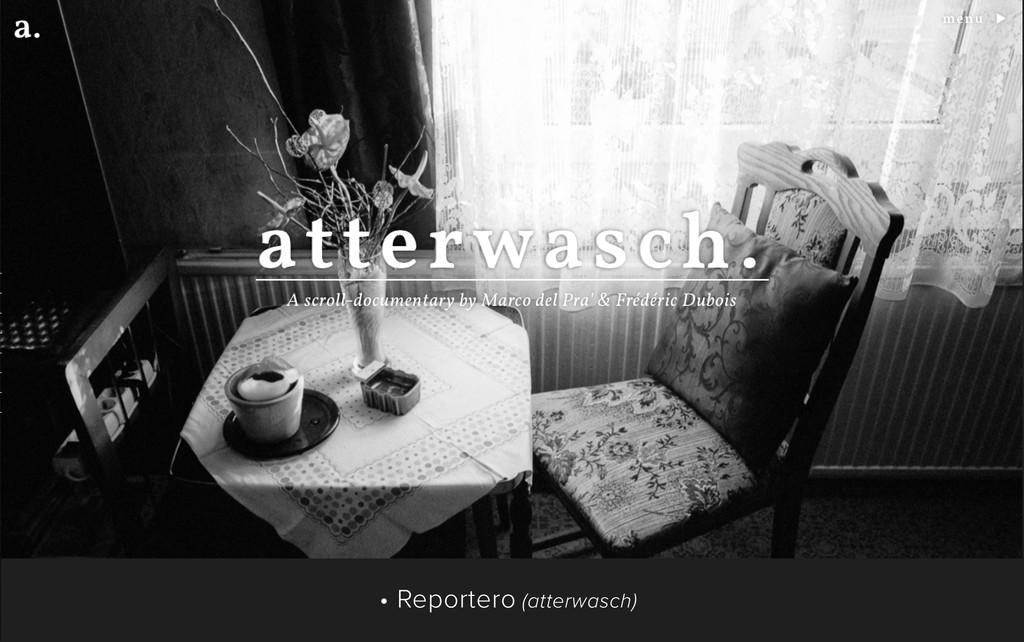 • Reportero (atterwasch)