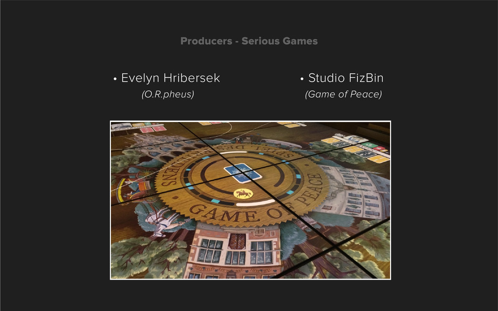 Producers - Serious Games • Studio FizBin (Game...