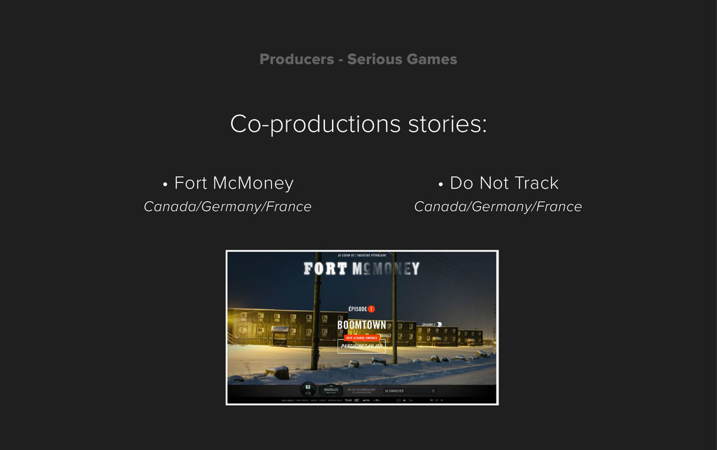 Producers - Serious Games Co-productions storie...
