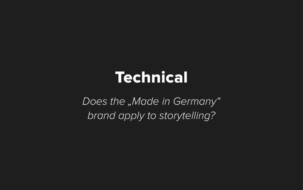 "Does the ""Made in Germany"" brand apply to story..."