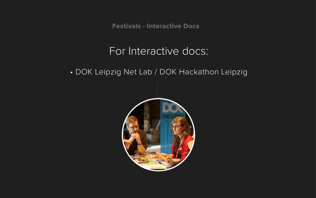 Festivals - Interactive Docs For Interactive do...