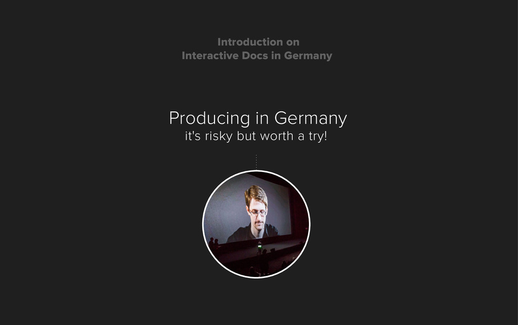 Producing in Germany it's risky but worth a try...