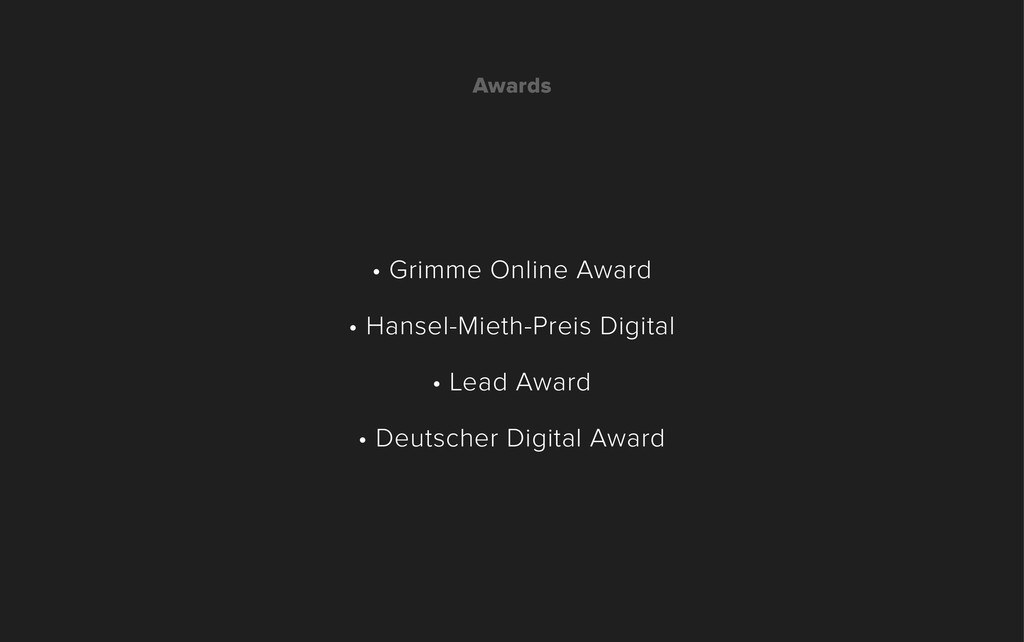 • Grimme Online Award • Hansel-Mieth-Preis Digi...