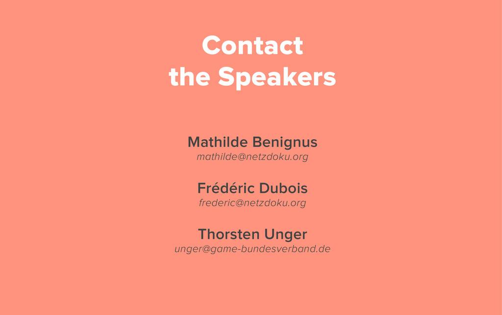 Mathilde Benignus mathilde@netzdoku.org Frédéri...