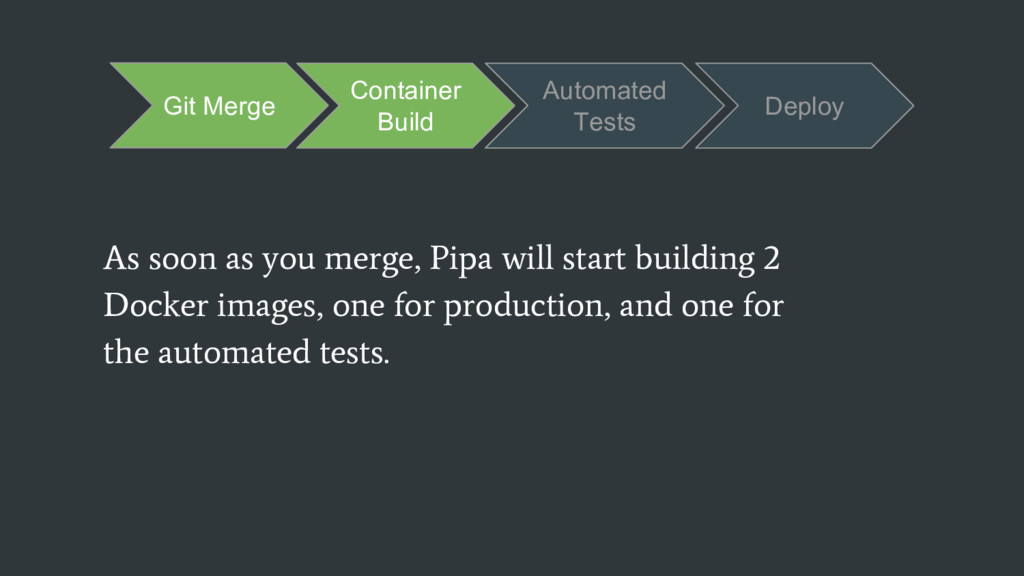 As soon as you merge, Pipa will start building ...