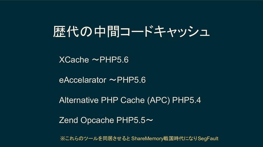 歴代の中間コードキャッシュ XCache 〜PHP5.6 eAccelarator 〜PHP5...