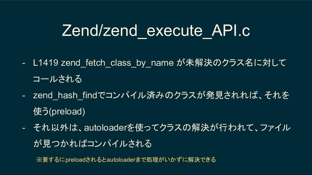 Zend/zend_execute_API.c - L1419 zend_fetch_clas...