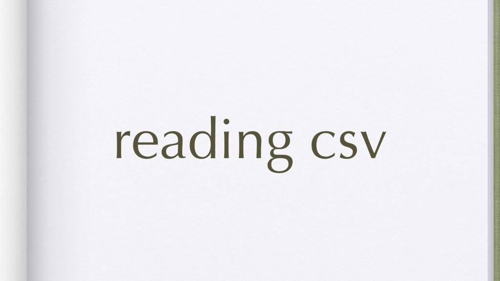 reading csv