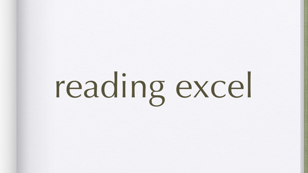reading excel