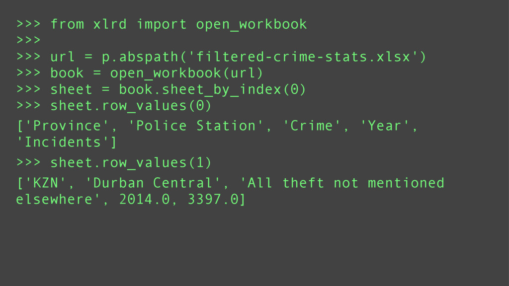 >>> from xlrd import open_workbook >>> >>> url ...