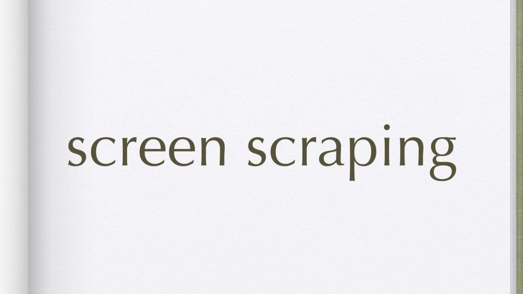 screen scraping