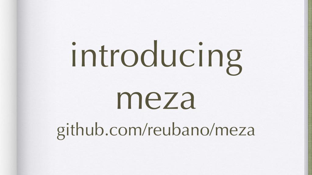 introducing meza github.com/reubano/meza