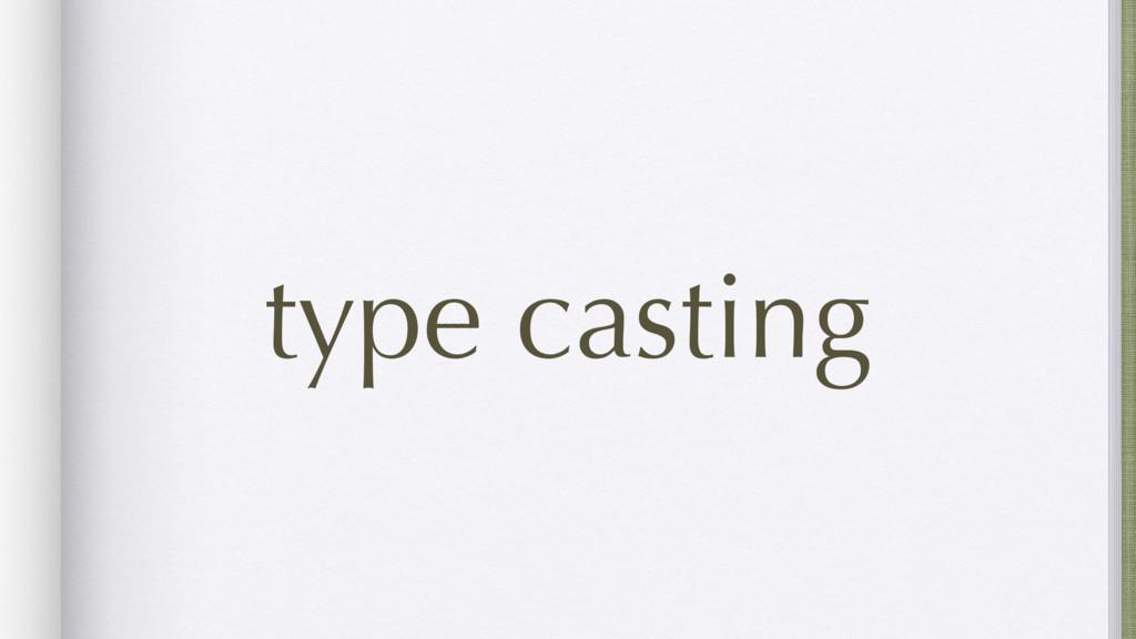 type casting